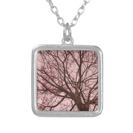 Pink Sky and Tree Branches Jewelry
