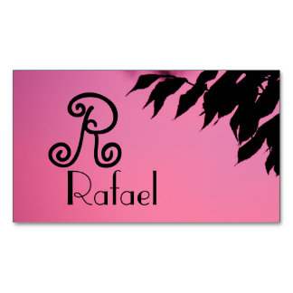 pink sky branches leaves tree peace smile relax magnetic business cards