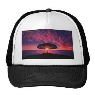 Pink sky cap