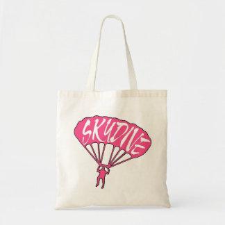 Pink skydive fanatic reusable bag