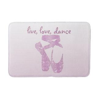 pink slippers bath mat