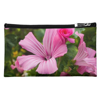 pink small pocket flower cosmetic bag