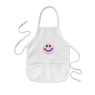 Pink smiley face aprons