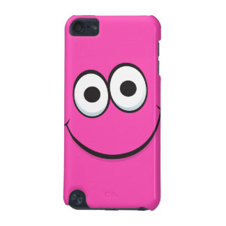 Pink smiley face funny cartoon iPod touch case