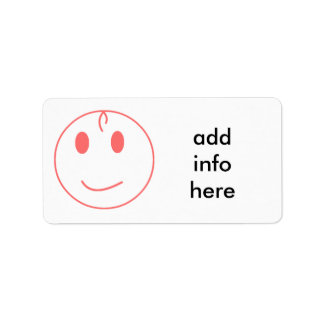 Pink Smiley Face Label