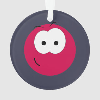 Pink Smiley Face Ornament