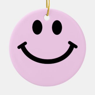 Pink Smiley Face Ornament Decoration