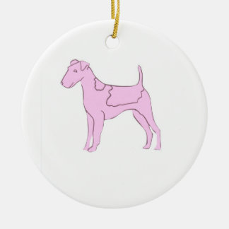 Pink Smooth Fox Terrier Ornament
