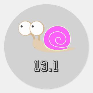 Pink Snail 13.1 (half marathon) Sticker