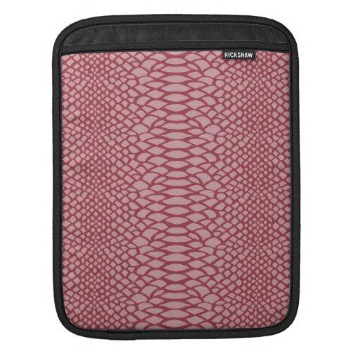 Pink Snake Print iPad Sleeves