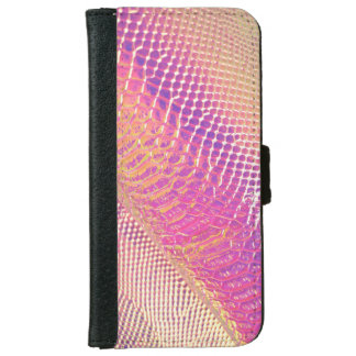 Pink Snake Skin Look iPhone 6 Wallet Case
