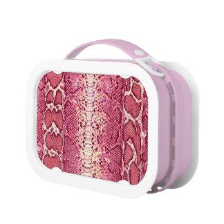 Pink Snake Skin Lunchbox #1
