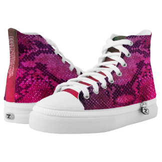 Pink Snake skin style High Top