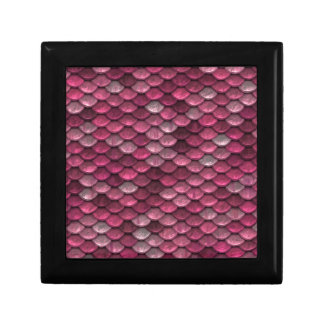 Pink Snakeskin Background Gift Box