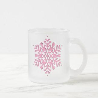 PINK SNOWFLAKE ORNAMENT COFFEE MUG