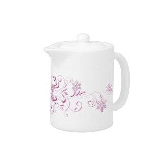 Pink Snowflake Teapot