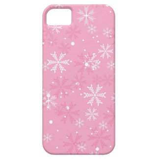 Pink Snowflakes Pattern Barely There iPhone 5 Case