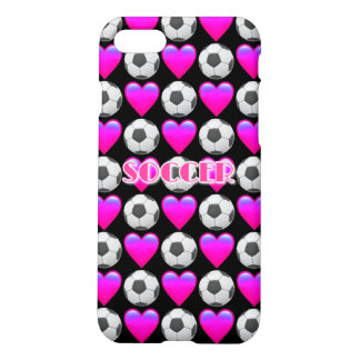 Pink Soccer Emoji iPhone 8/7 Matte Case