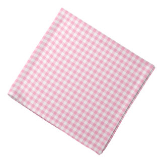 Pink Soda Gingham Check Pattern Dog Bandana