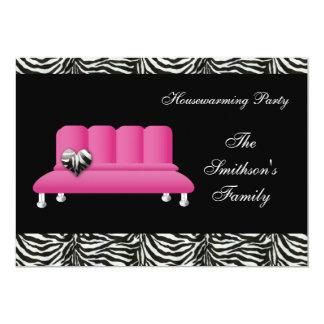 Pink Sofa Housewarming Party Invitations