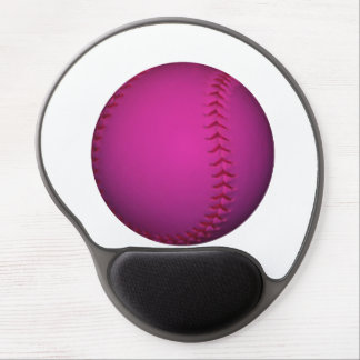 Pink Softball Gel Mouse Pads