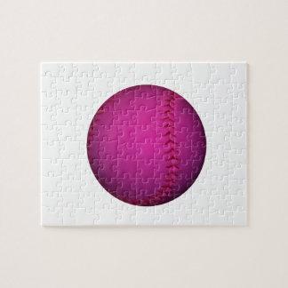Pink Softball Jigsaw Puzzle