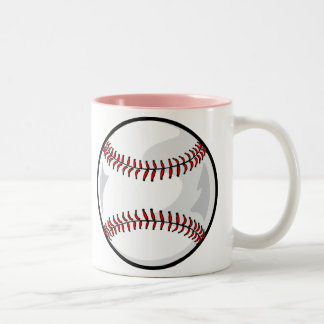 Pink Softball Mugs