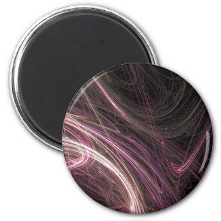Pink Space Flow Groovy Starburst Pattern Cosmic Magnet