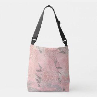 pink space geometry crossbody bag