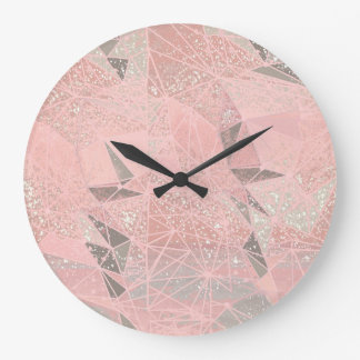 pink space geometry large clock