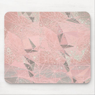 pink space geometry mouse pad