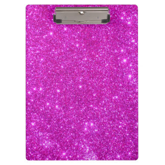 Pink Sparkle Glitter Girly Clipboard 3