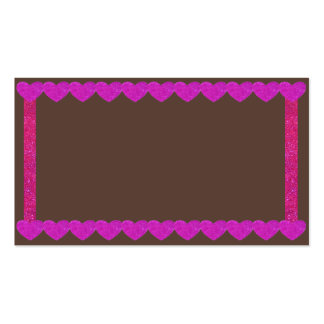 Pink Sparkle Hearts Gingerbread Business Cards 4