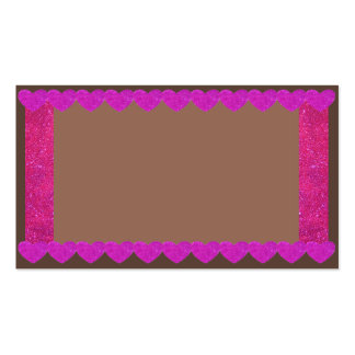 Pink Sparkle Hearts Gingerbread Business Cards 5