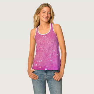 Pink Sparkle Sweat & Bling Tank