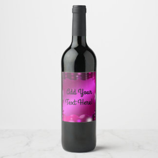 Pink Sparkles Fancy Wine Labels You Customize