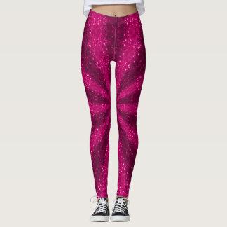 Pink Sparkles Lotus Mandala Leggings