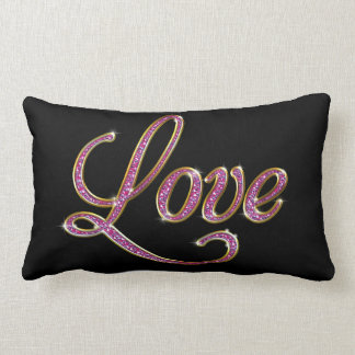 Pink Sparkles Love Cushions