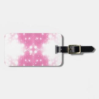 Pink Sparkling Kaleidosope Luggage Tag