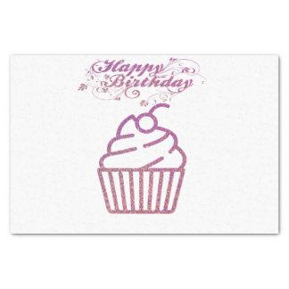 Pink Sparkly Birthday Cupcake Tissue Paper