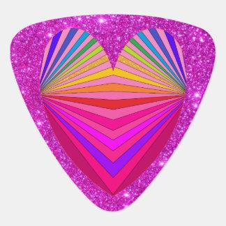 Pink Sparkly Glam Guitarist Princess Glittery Fun Plectrum