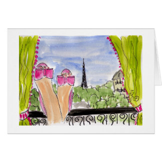 Pink Sparkly Shoes in Paris Card