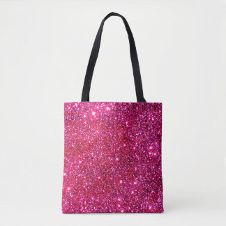 Pink Sparkly Tote Bags Princess Glittery Fun