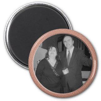 pink speckle frame magnet