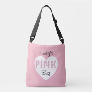 Pink Spelled From Hearts Crossbody Bag
