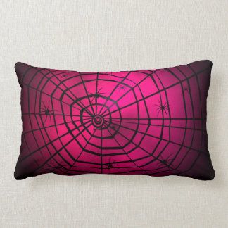 Pink Spiders web pillow