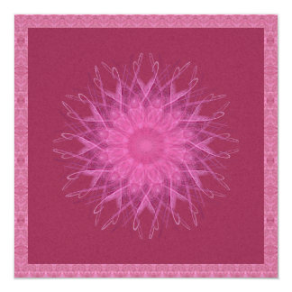 Pink Spinner Mandala Card