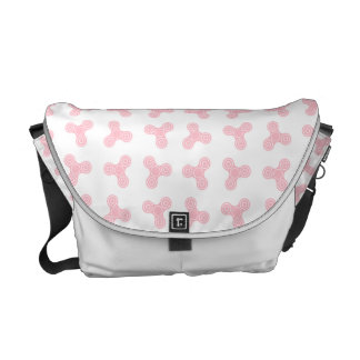 Pink Spinners Design Messenger Bag