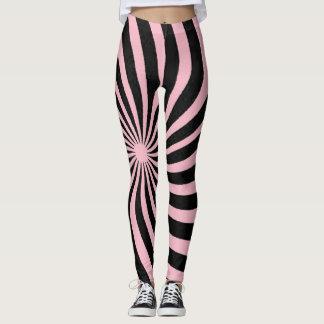 Pink Spiral Leggings