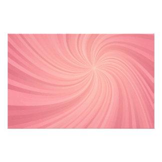 Pink spiral custom stationery